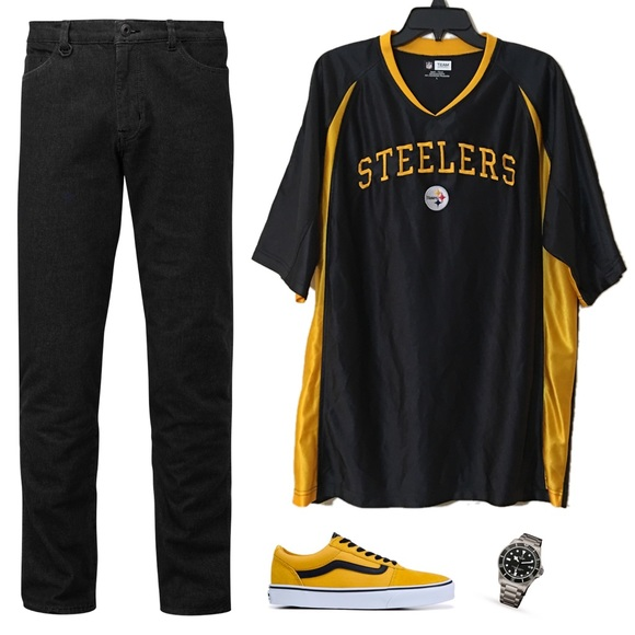NFL Team Apparel Pittsburgh Steelers Jersey G10. M 5bdb3fe2d6dc52f243e644d4 01c958516